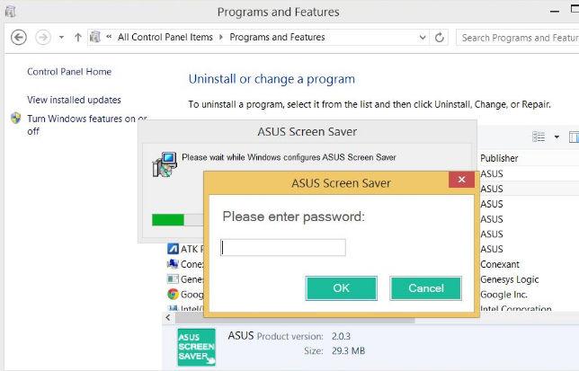 Asus screensaver что это за программа